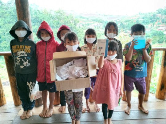 Masks distribution to communities