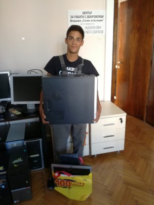 Denis with his new PC