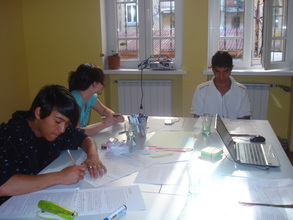 Sofia group working on their book