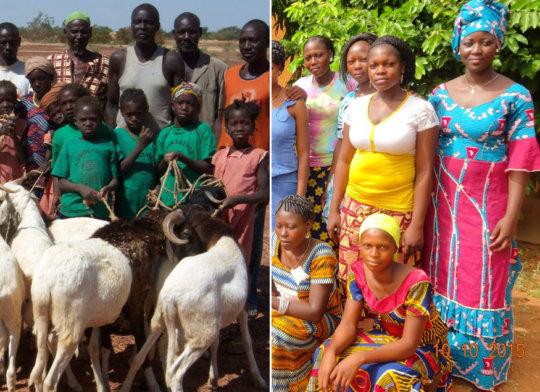 Village girls starting school/in teacher training