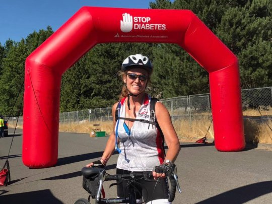 Helen rides 104 miles for her daughter every year!