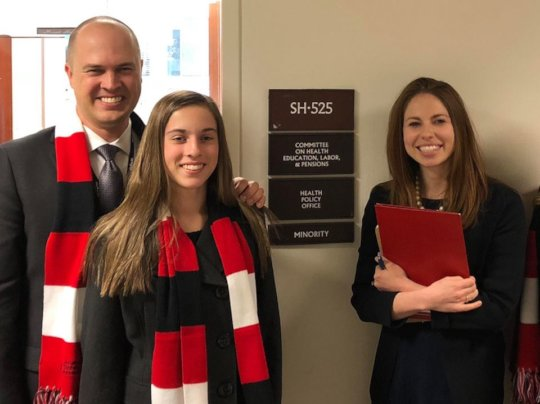 Paige and Brad met with Sen. Murray's advisor