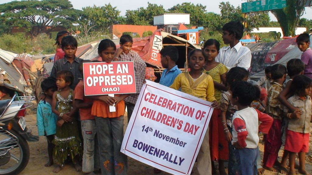 CHILDREN AMIDST CELEBRATION