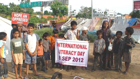 Children with enthusiasm to celebrate literacyday