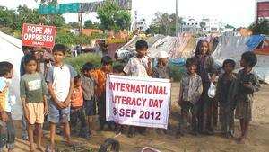 Children with enthusiasm to celebrate literacyday