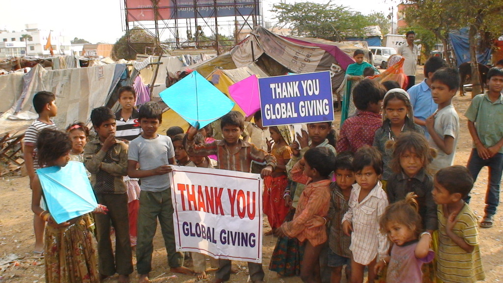 Children thanking the Donors