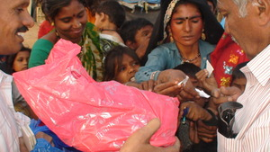 distributing the kit in a wrapped cover