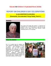 REPORT ON CHILDREN