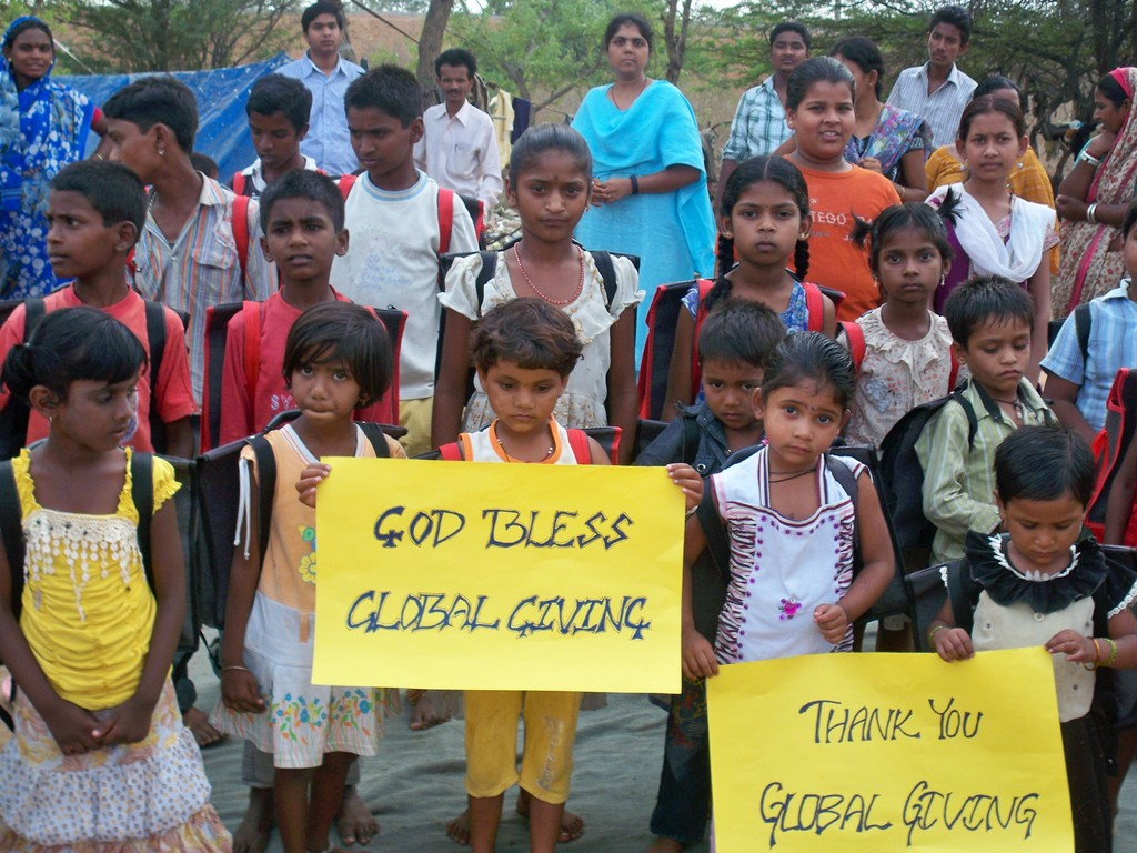 Global giving a great motivation to uplift downtrodden slum dwellers.  Dreams come true by the compassion of God like you.