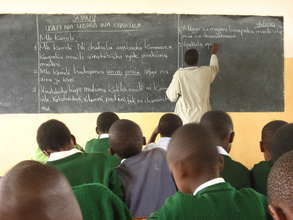 AfricAid Scholar in Classroom