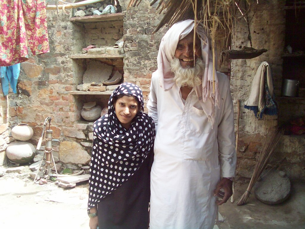 Arastun with her grandfather
