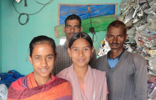 Renu (left) and Priyanka with their fathers