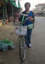 Ratana and her bicycle!