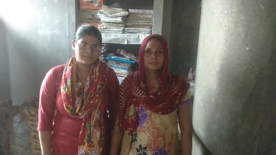 Usha and her mother.