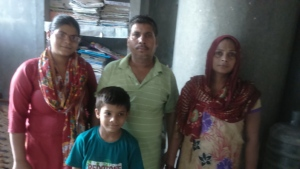 Usha with her brother and family.