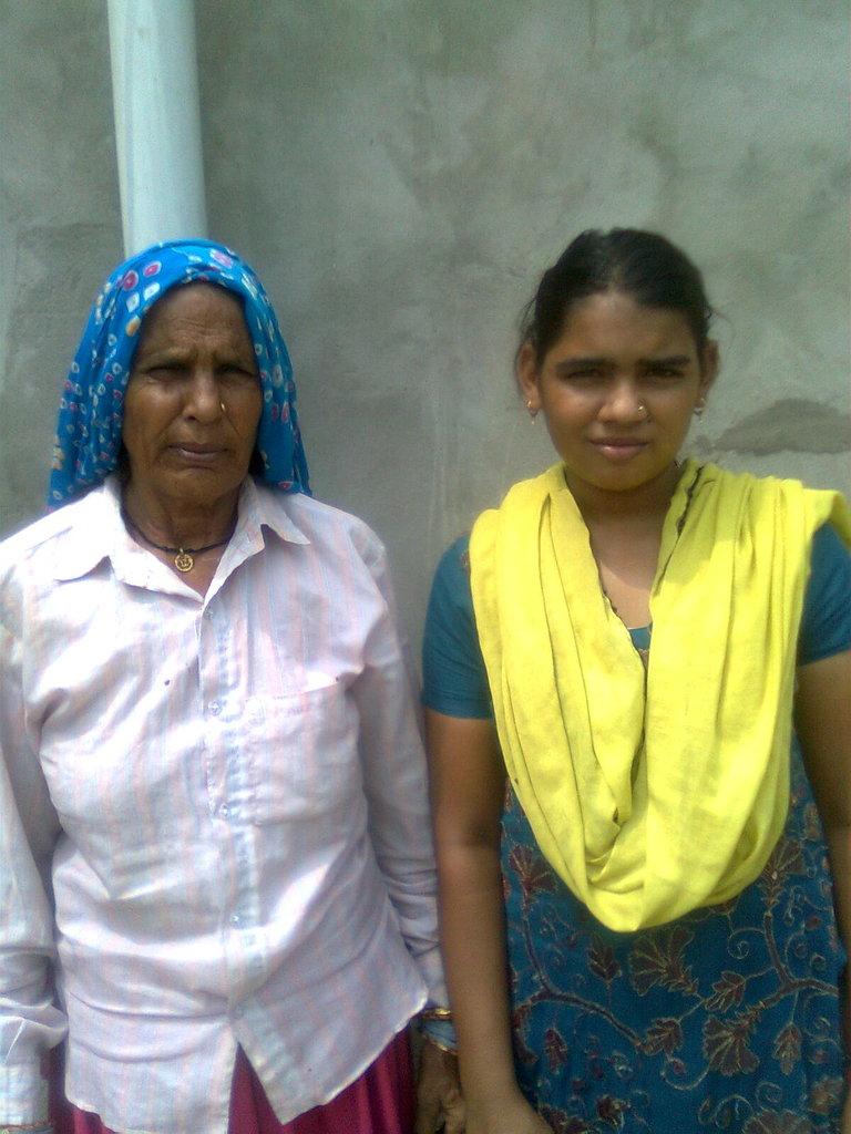 Sangita, with her proud grandmother