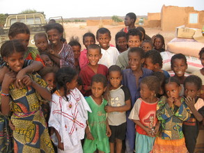 In Aragh, smiling faces after a long summer.