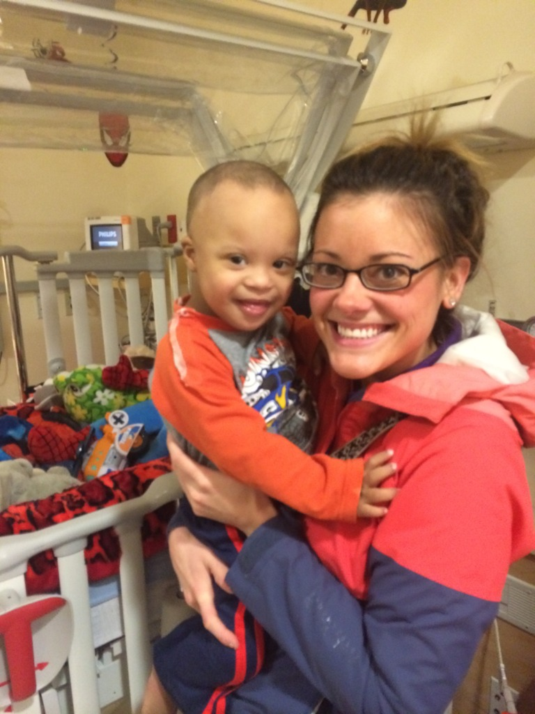 Asher and his Chemo Pal Brittany