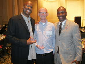 Ray, Danny and Blazers President Larry Miller