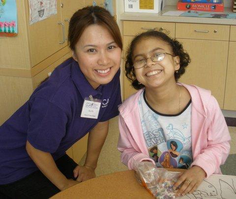 Paloma & her Chemo Pal mentor Jinli