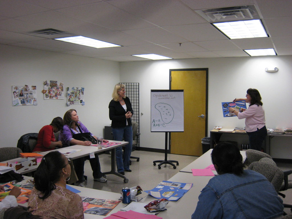 """WEN women """"in action"""" at the Super Woman Workshop."""