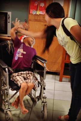Client at our 2012 Outreach