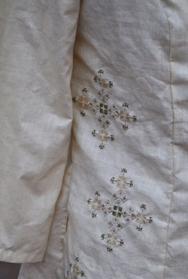 Detail of suf embroidered jacket for Museum show