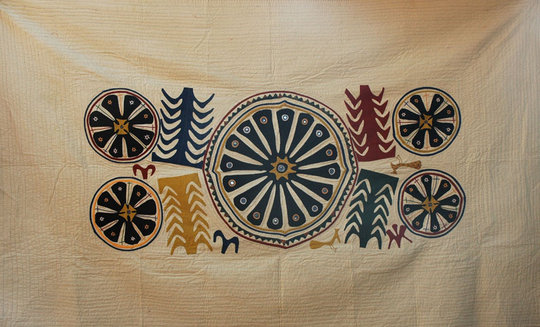 Devalben's quilt based on the Museum object
