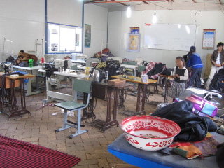 Local initiative to restart vocational training