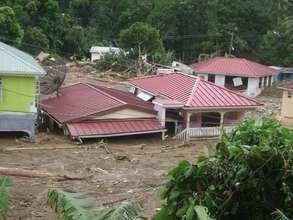 Landslide in Soufriere, St. Lucia