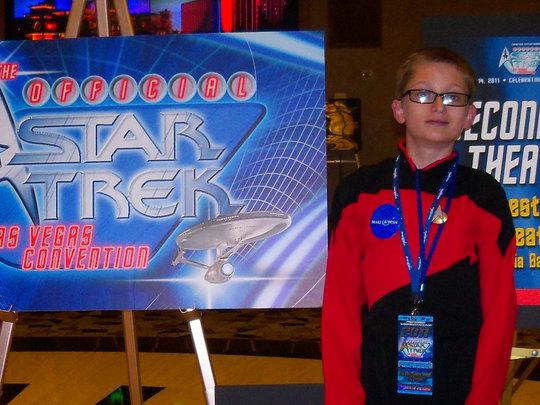 Sean at the Star Trek Convention