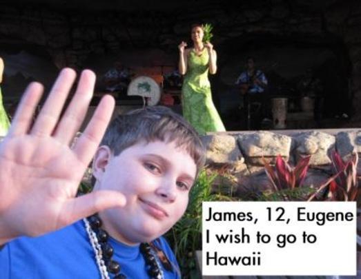 James enjoying the luau show!
