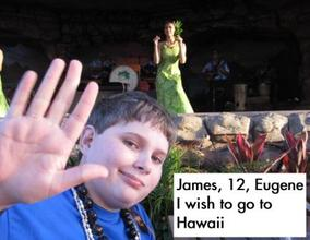James enjoying the luau show!