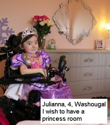 Julianna's princess room!