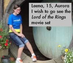 Leena's wish to go to LOTR set