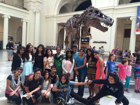 At the Smithsonian Museum, Washington, D.C.