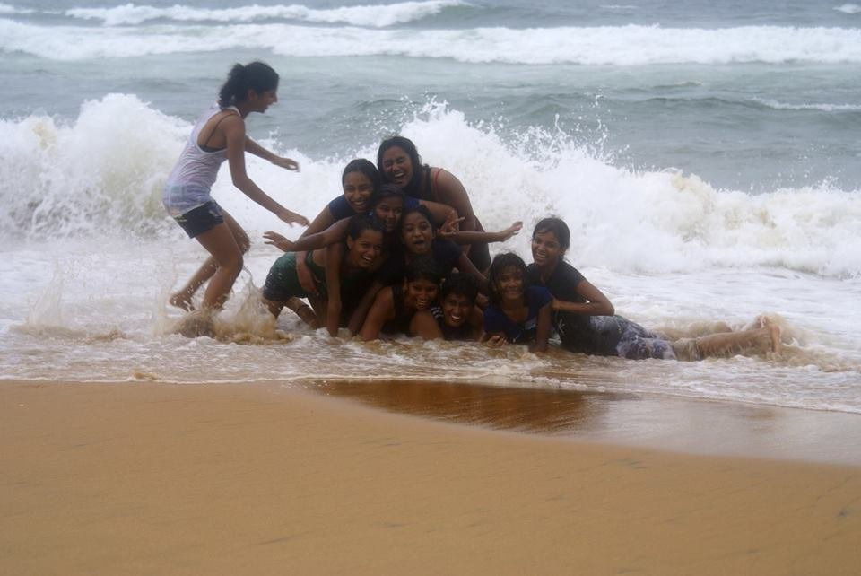 Revolutionaries on the beach in Trivandrum!