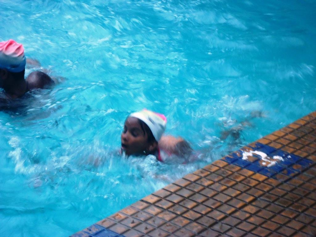 Sumaiya swimming