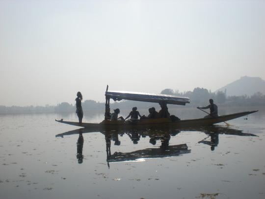 Gliding across Dal Lake (Srinagar)