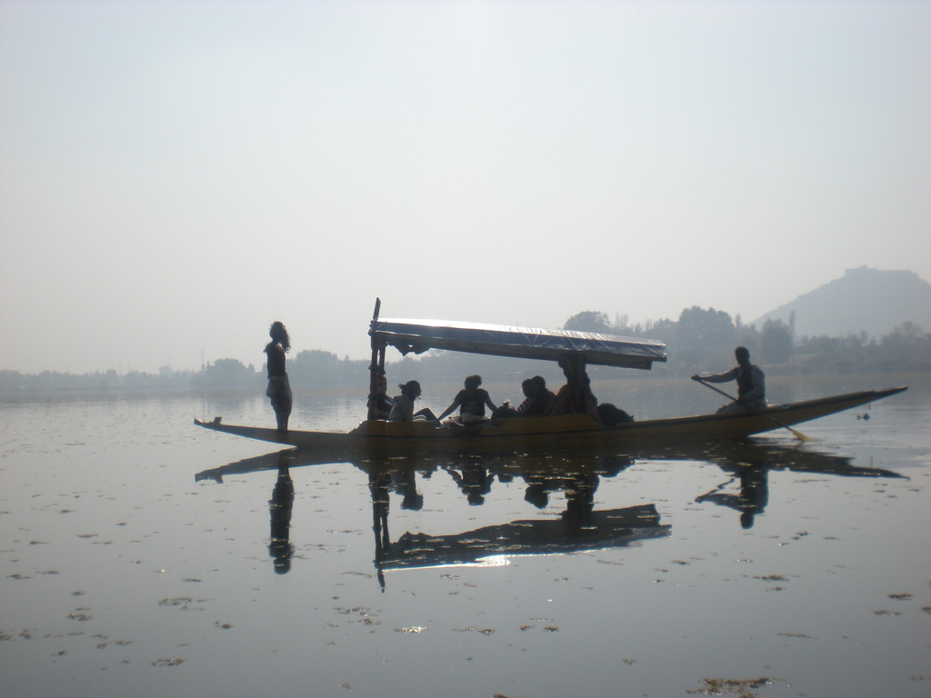 Gliding across Dal Lake (Srinagar)