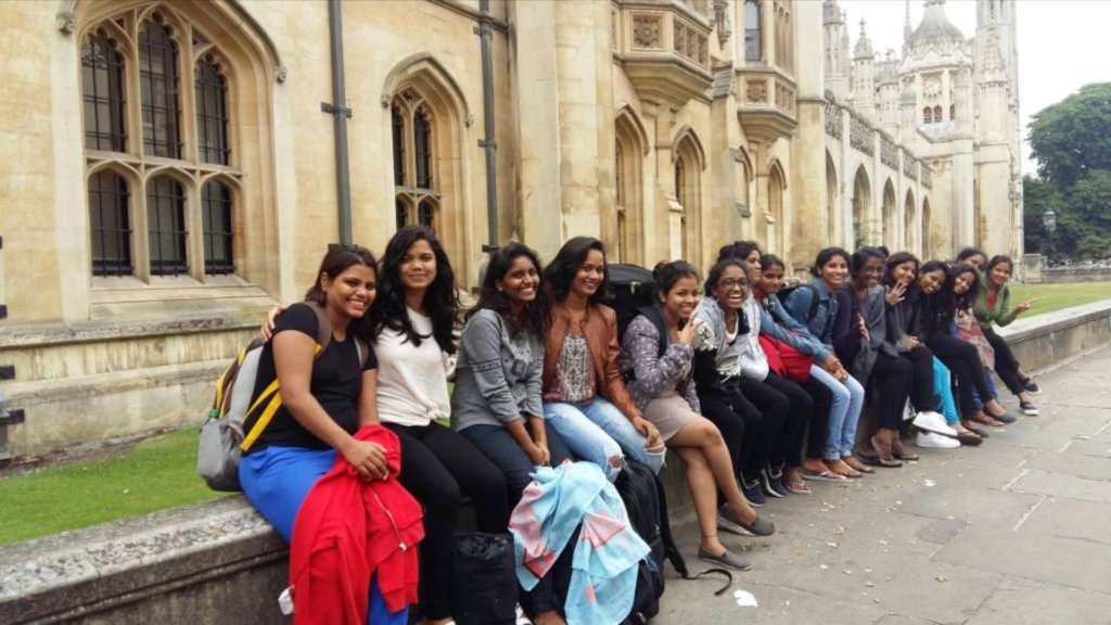 Chilling in Cambridge after our show!