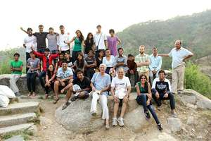 All the interns in Himachal at Sambhaavnaa