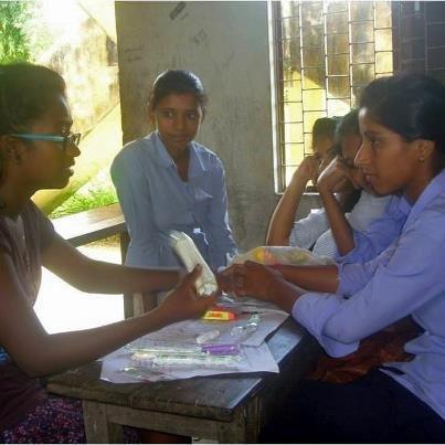 Shweta Teaching Classes to Nepali Girls