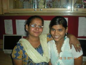 Pinky and Mom