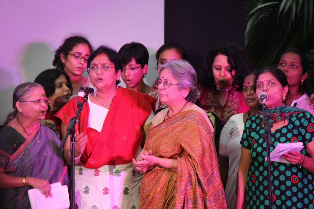 Women at the One Billion Rising Event, Mumbai