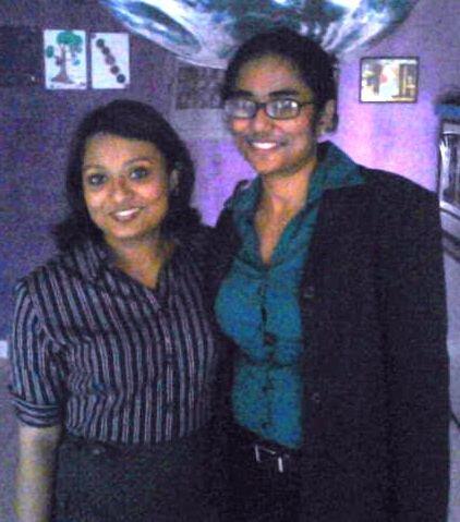 Trina and Robin receiving the Stree Shakti Award