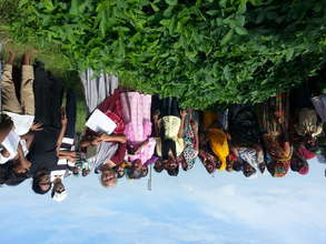 Visiting landless farmers