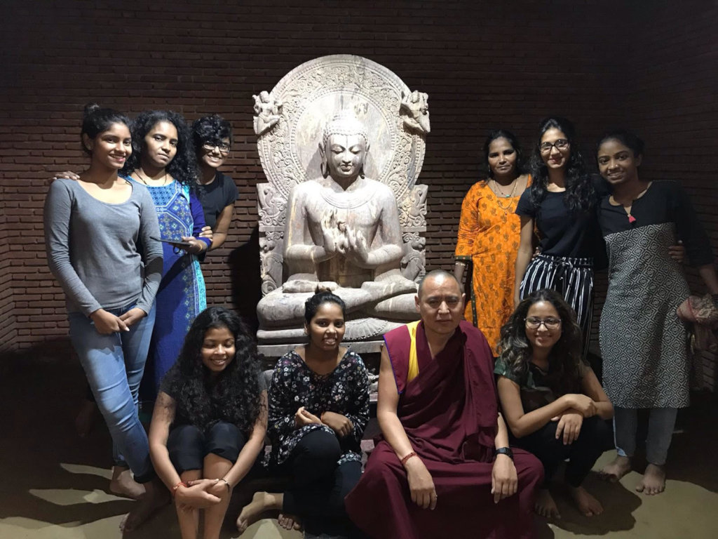 Visiting a Dalit Buddhist village with monks!
