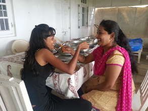 Sheetal and her mom