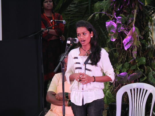 Sheetal Speaks to the Crowd at One Billion Rising